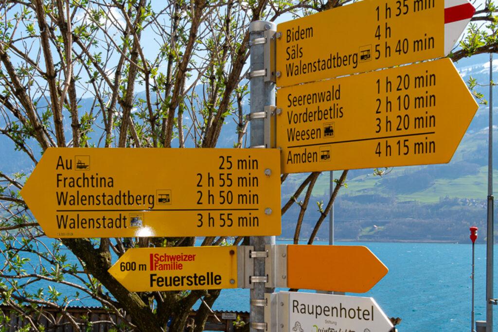 Ferien in der Schweiz – Fotowanderung – Walensee